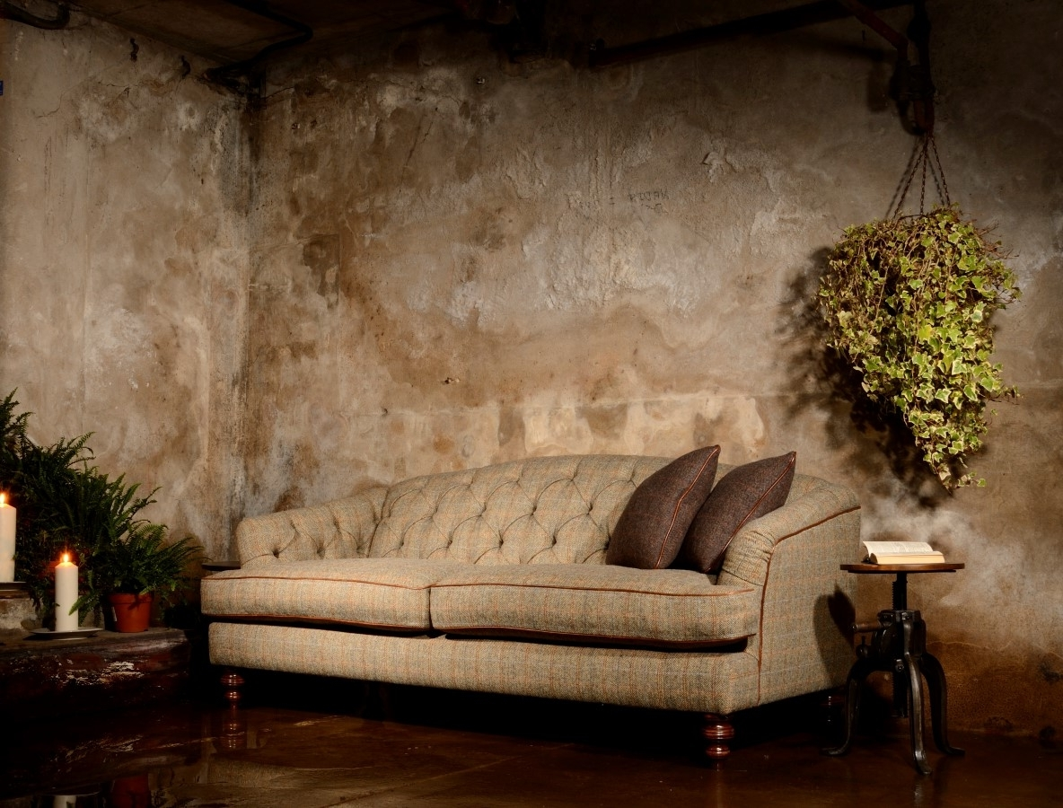 Current Dalmore Harris Tweed Midi Fabric Sofa – Lpc Furniture With Regard To Tweed Fabric Sofas (View 5 of 20)