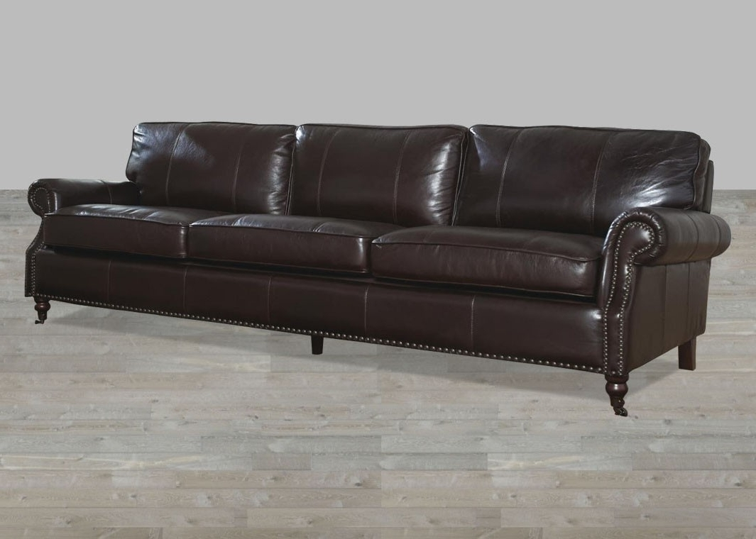Current Dark Chocolate Leather Vintage 4 Seat Sofa Regarding 4 Seat Leather Sofas (View 12 of 20)