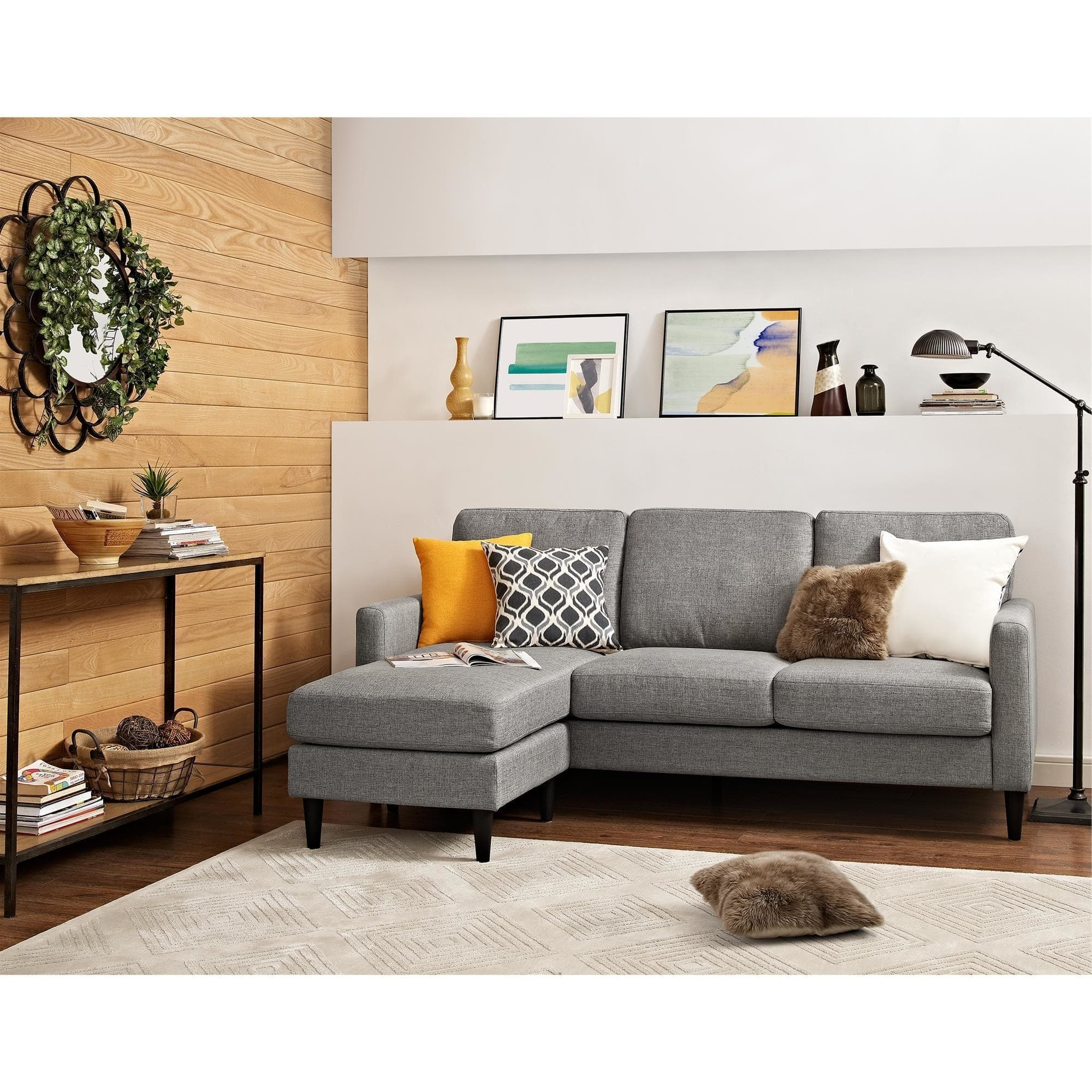 Current Dorel Living Kaci Grey Sectional Sofa – Free Shipping On Orders With Overstock Sectional Sofas (View 2 of 20)