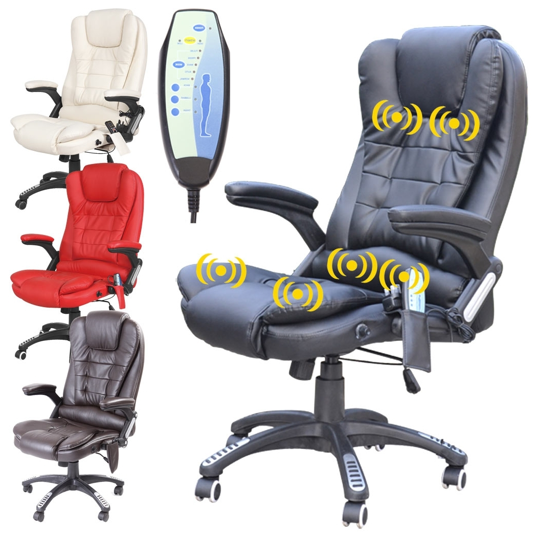 Current Executive Office Chairs With Massage/heat Within Massage Chair: Massaging Computer Chair With Heat Executive Office (View 3 of 20)