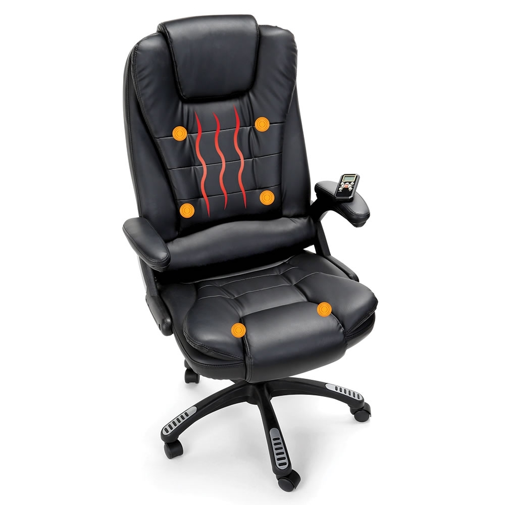 Current Executive Office Chairs With Massage/heat Within The Heated Massaging Executive Chair – Hammacher Schlemmer (View 6 of 20)