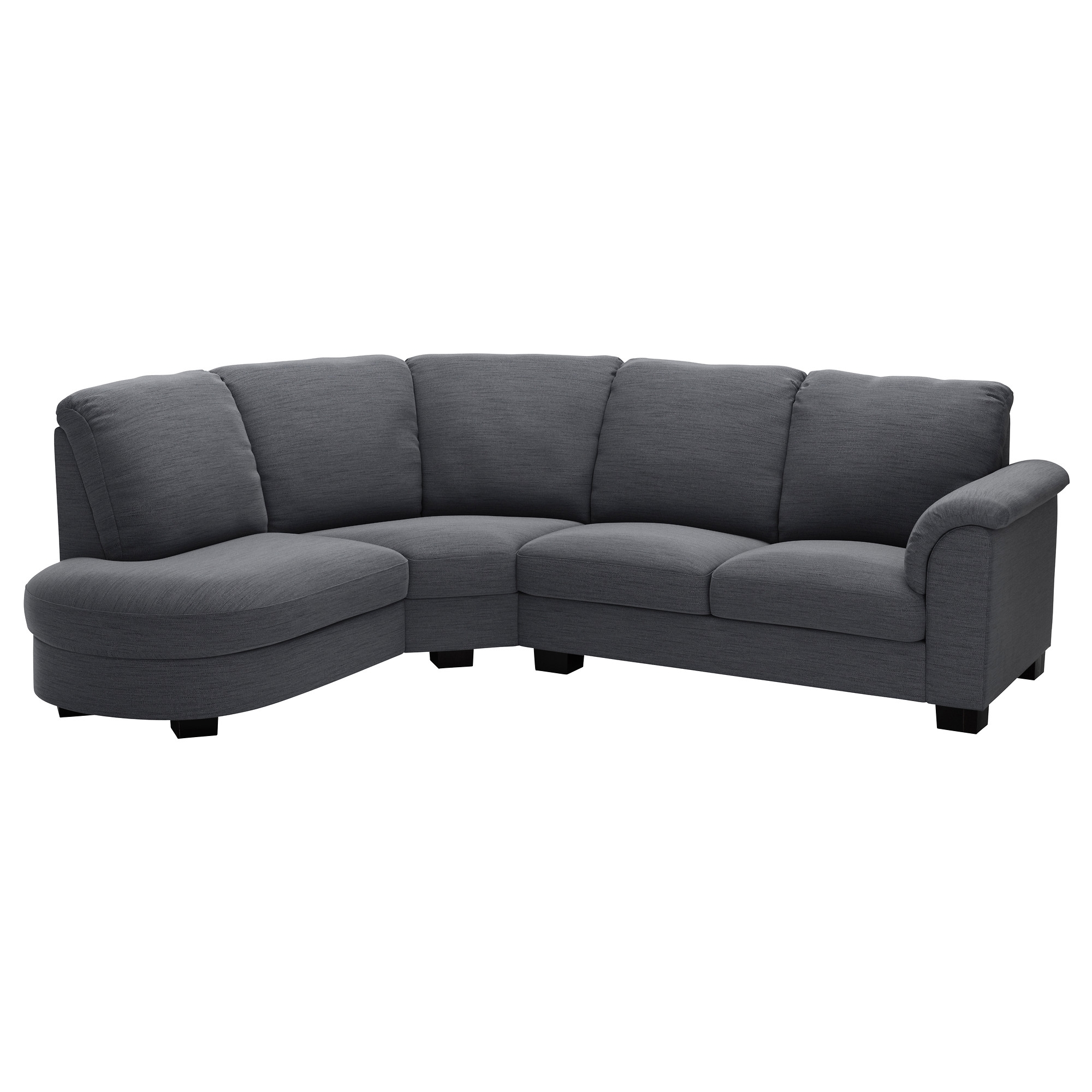 Current Fabric Corner Sofas For Tidafors Sectional, 3 Seat – Dansbo Medium Brown – Ikea (View 6 of 20)