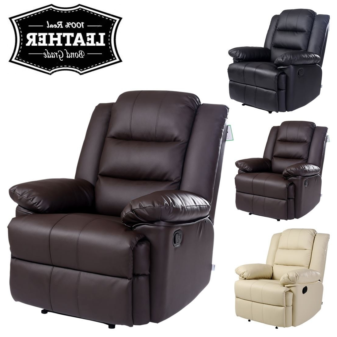 Current Gaming Sofa Chairs With Regard To Loxley Leather Recliner Armchair Sofa Home Lounge Chair Reclining (View 15 of 20)