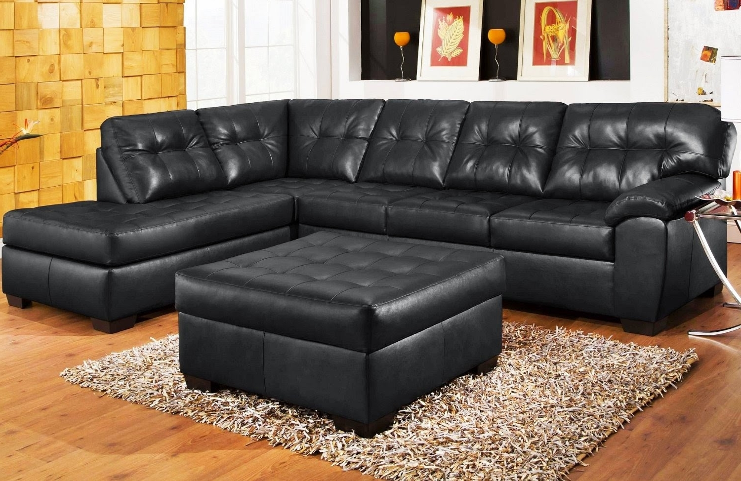 Current Houston Sectional Sofas In Black Leather Sectional Sofa – Visionexchange (View 17 of 20)