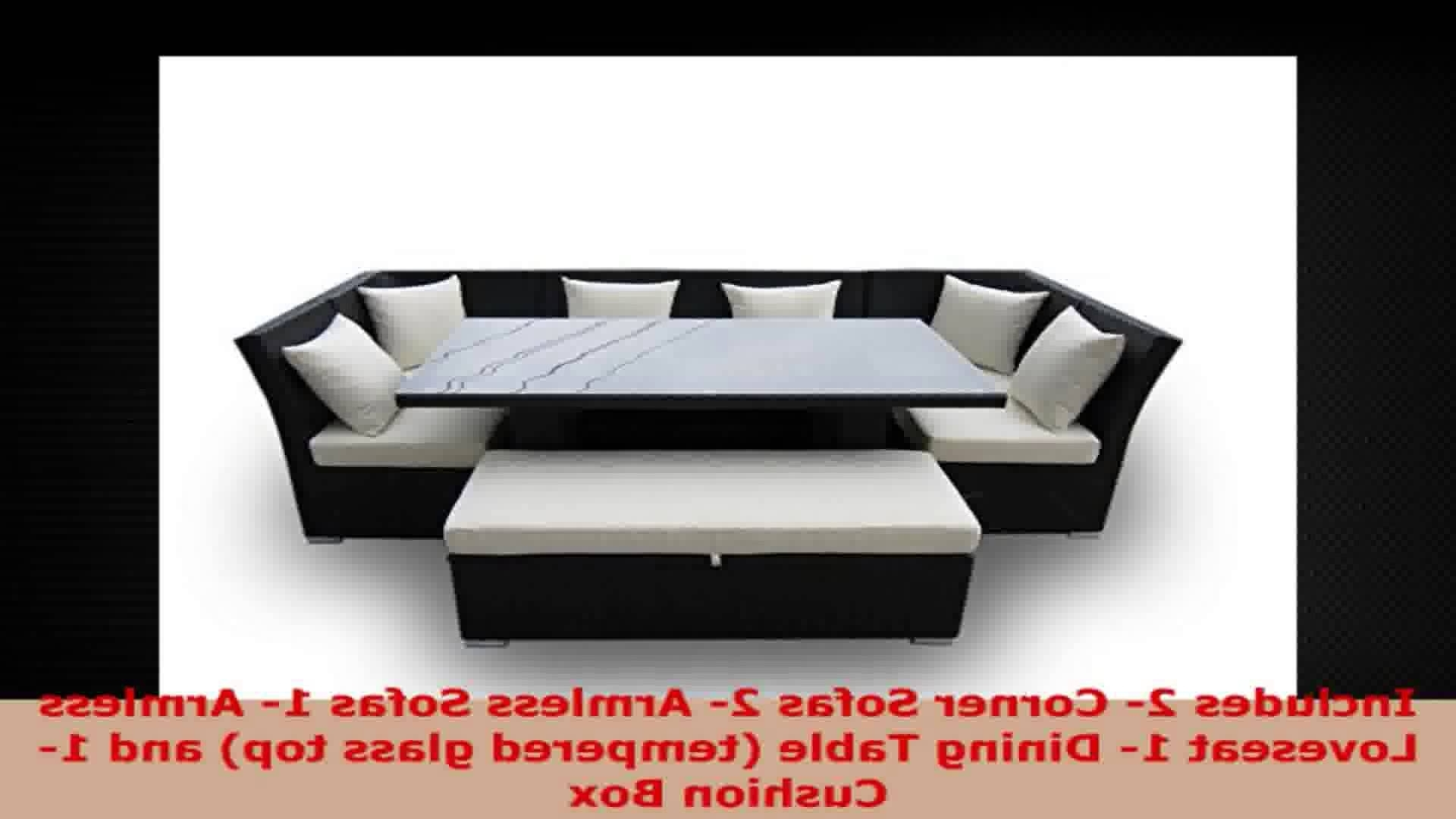 Current Jamaican 7 Piece Outdoor Patio Sectional Dining And Sofa Set With Pertaining To Jamaica Sectional Sofas (View 15 of 20)