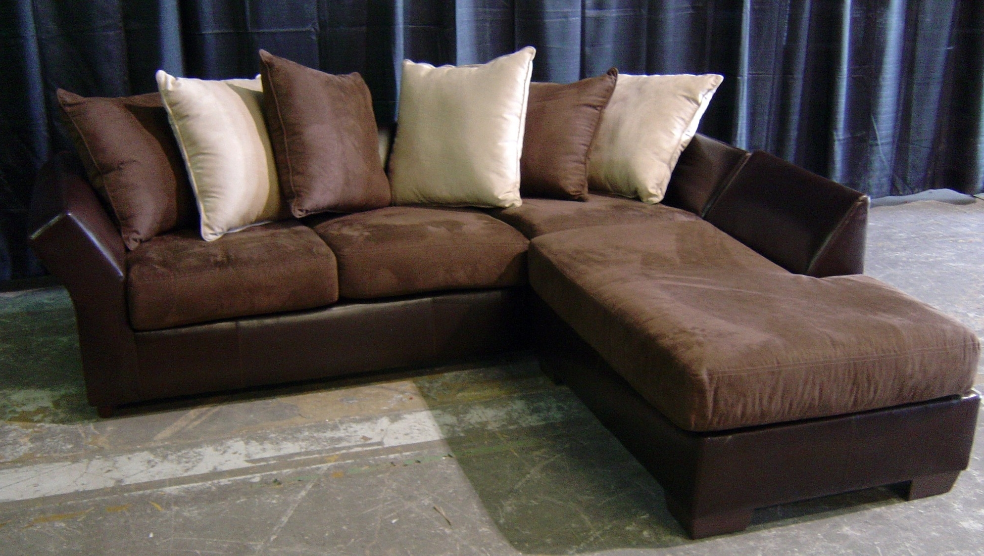 Current Leather And Suede Sectional Sofas With Regard To Leather And Suede Sectional Sofa – Radiovannes (Gallery 5 of 20)
