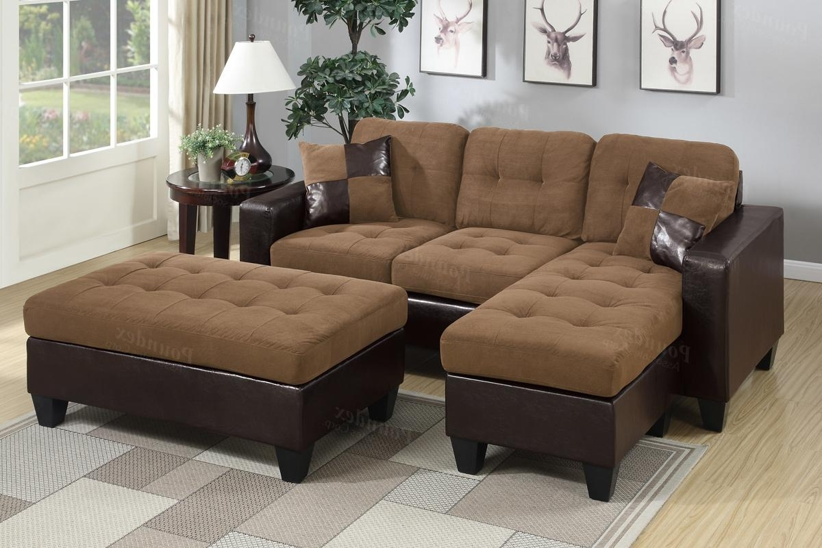Current Leather Sectionals With Ottoman For Brown Leather Sectional Sofa And Ottoman – Steal A Sofa Furniture (View 2 of 20)
