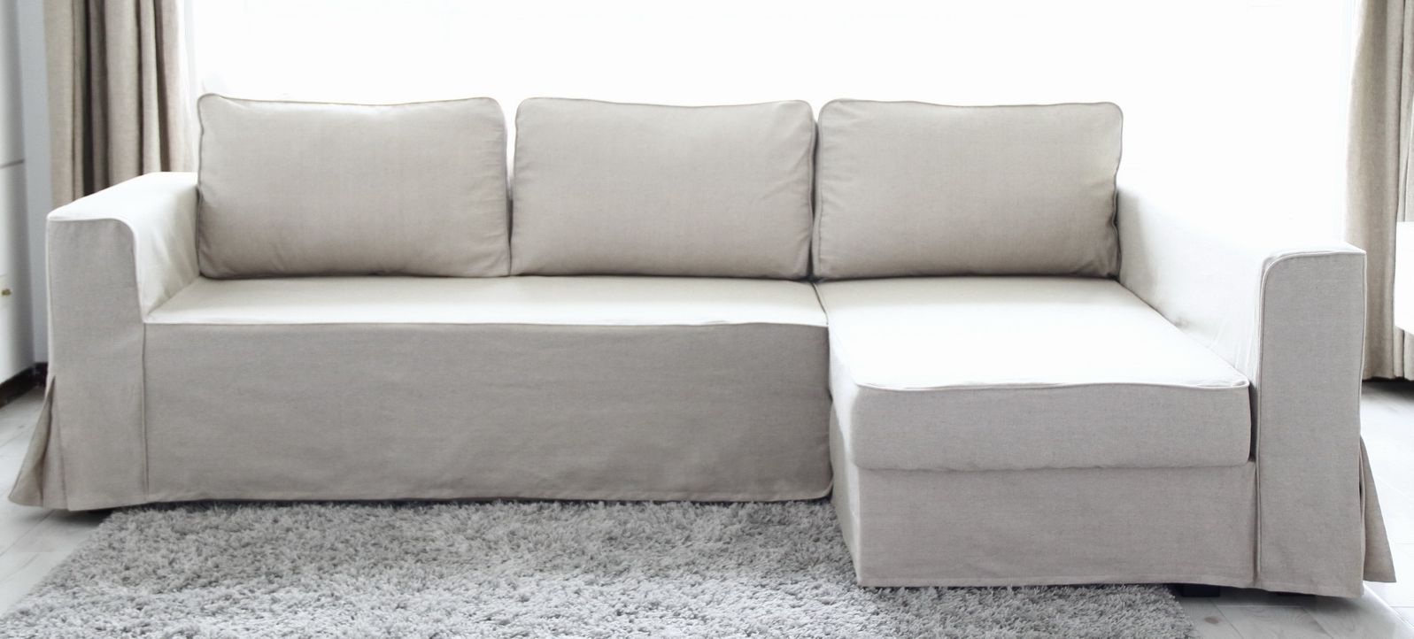 Current Loose Fit Linen Manstad Sofa Slipcovers Now Available Throughout Sectional Sofas With Covers (View 4 of 20)