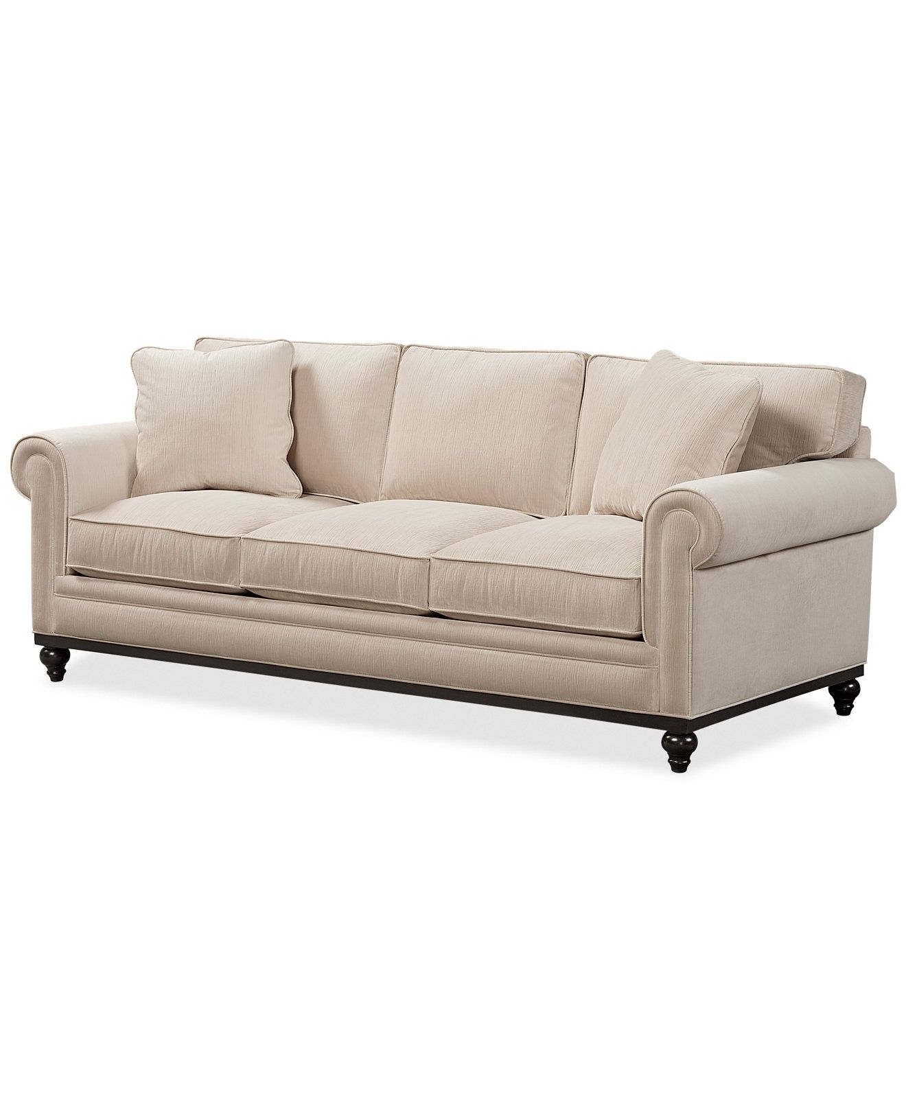 Current Macys Sofas Throughout Martha Stewart Collection New Club Fabric Roll Arm Sofa – Couches (View 16 of 20)