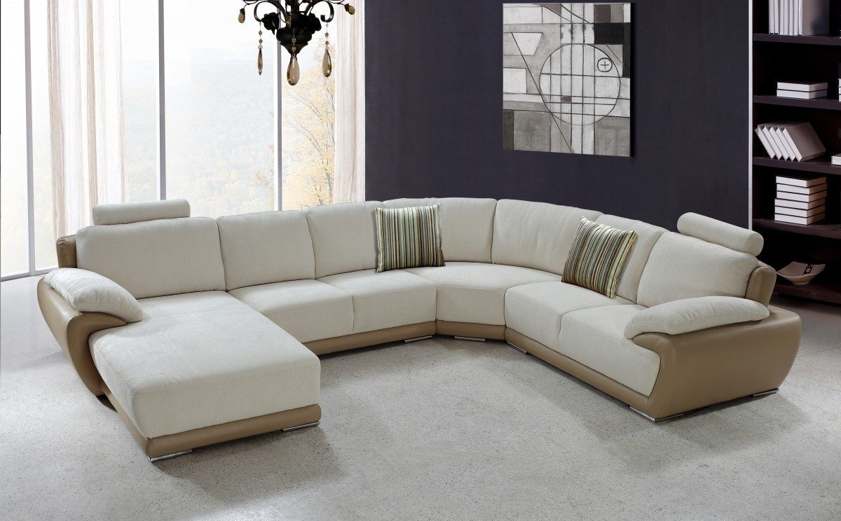 Current Modern U Shaped Sectionals With Captivating Modern Sectional Sofas U Shaped Fabric And Leather (View 4 of 20)