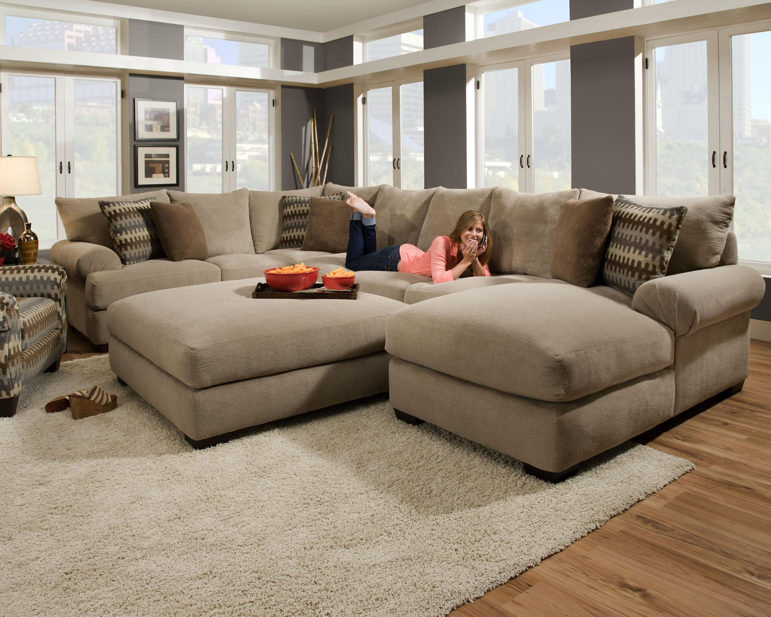 Current Nice Oversized Couch , Epic Oversized Couch 78 For Your Throughout Sectional Couches With Large Ottoman (View 4 of 20)