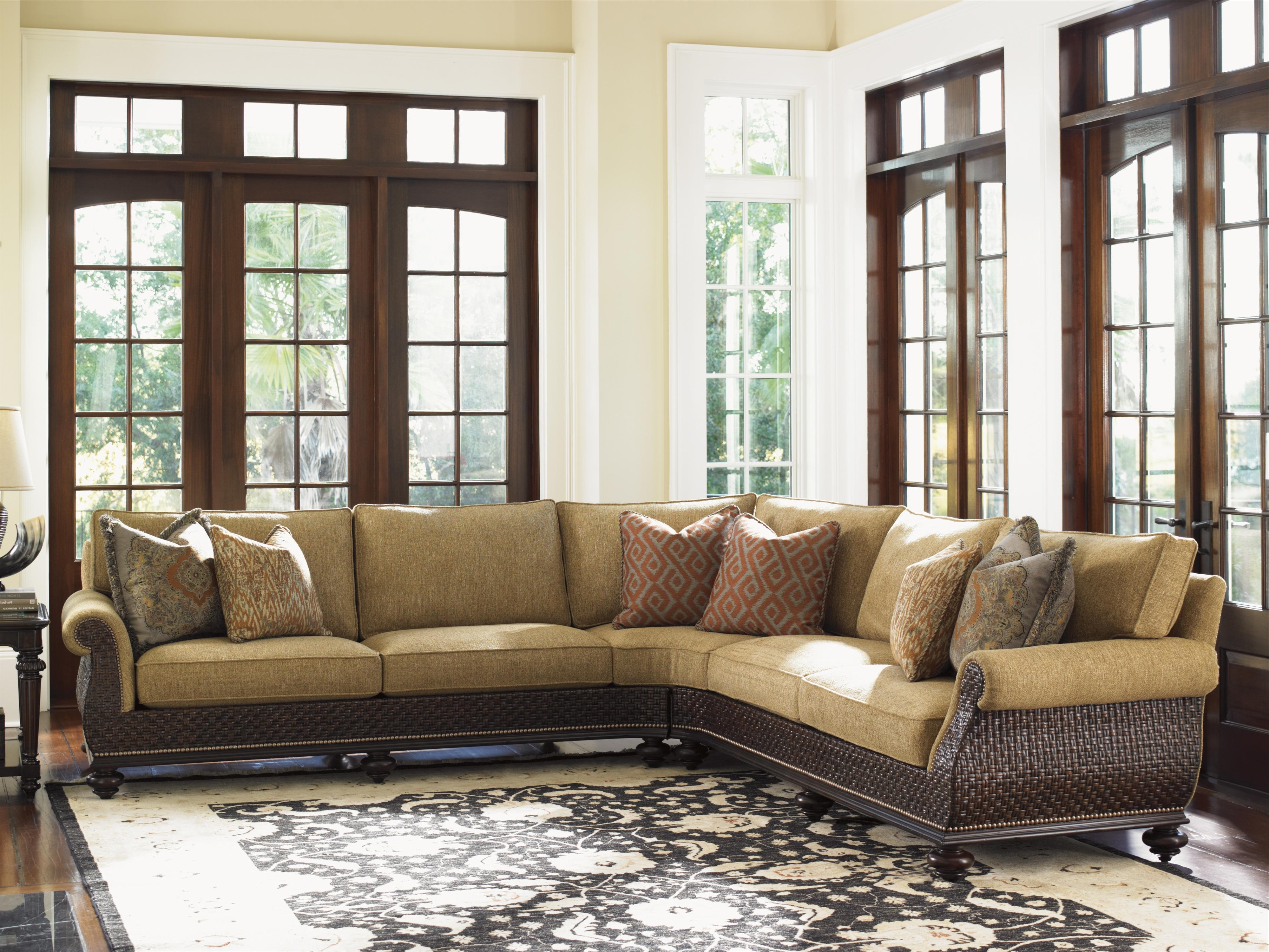 Current North Carolina Sectional Sofas With Regard To Tommy Bahama Home Island Traditions Westbury Sectional Sofa With (View 3 of 20)