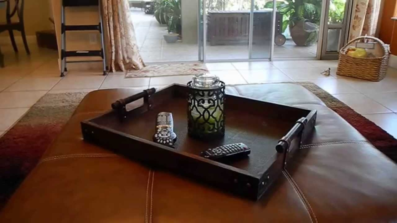 Current Ottomans With Tray Inside Shop My Home: Restyled Ottoman Tray – Youtube (View 2 of 20)