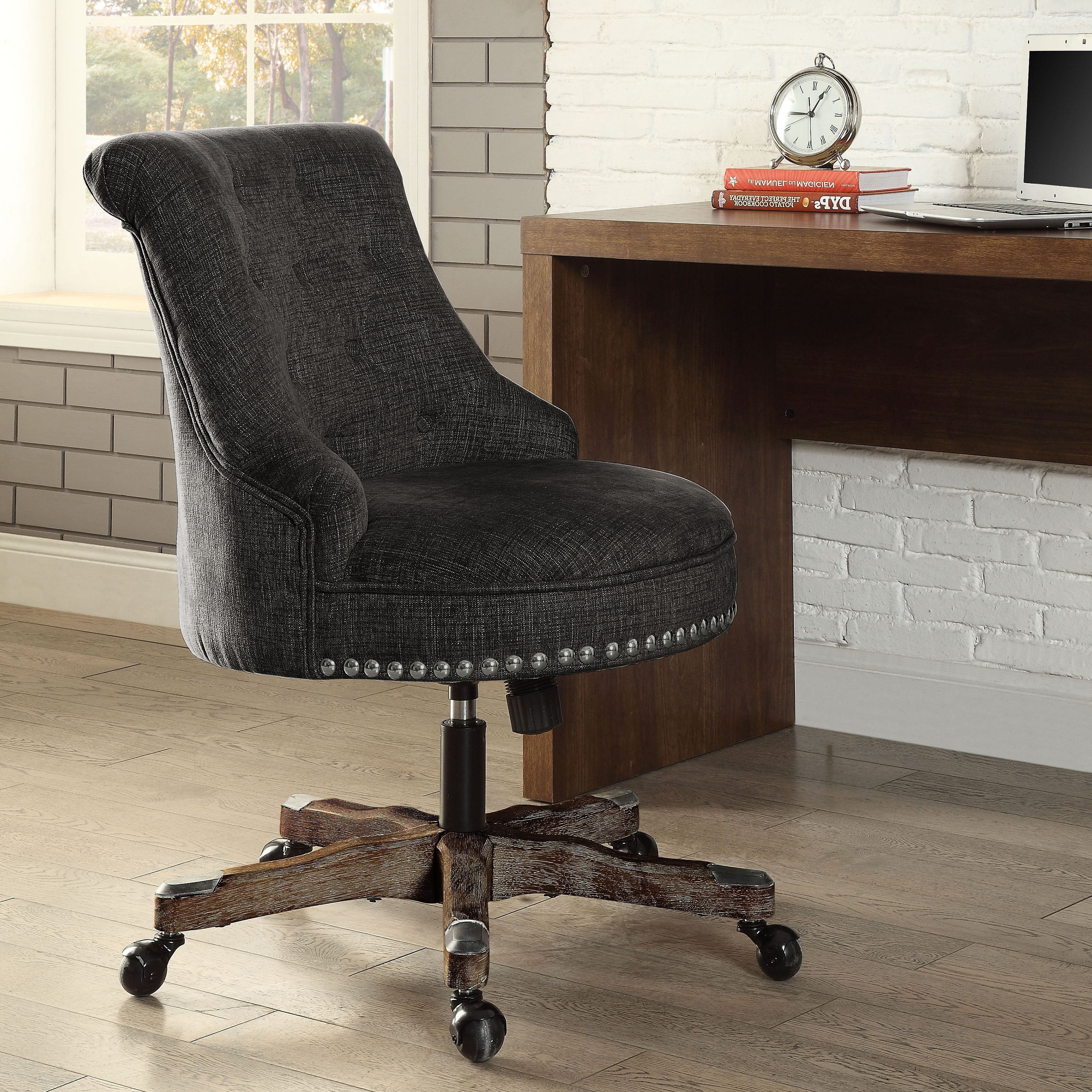 Current Plush Executive Office Chairs Pertaining To Linon Sinclair Executive Office Chair With Nailhead Trim (View 16 of 20)