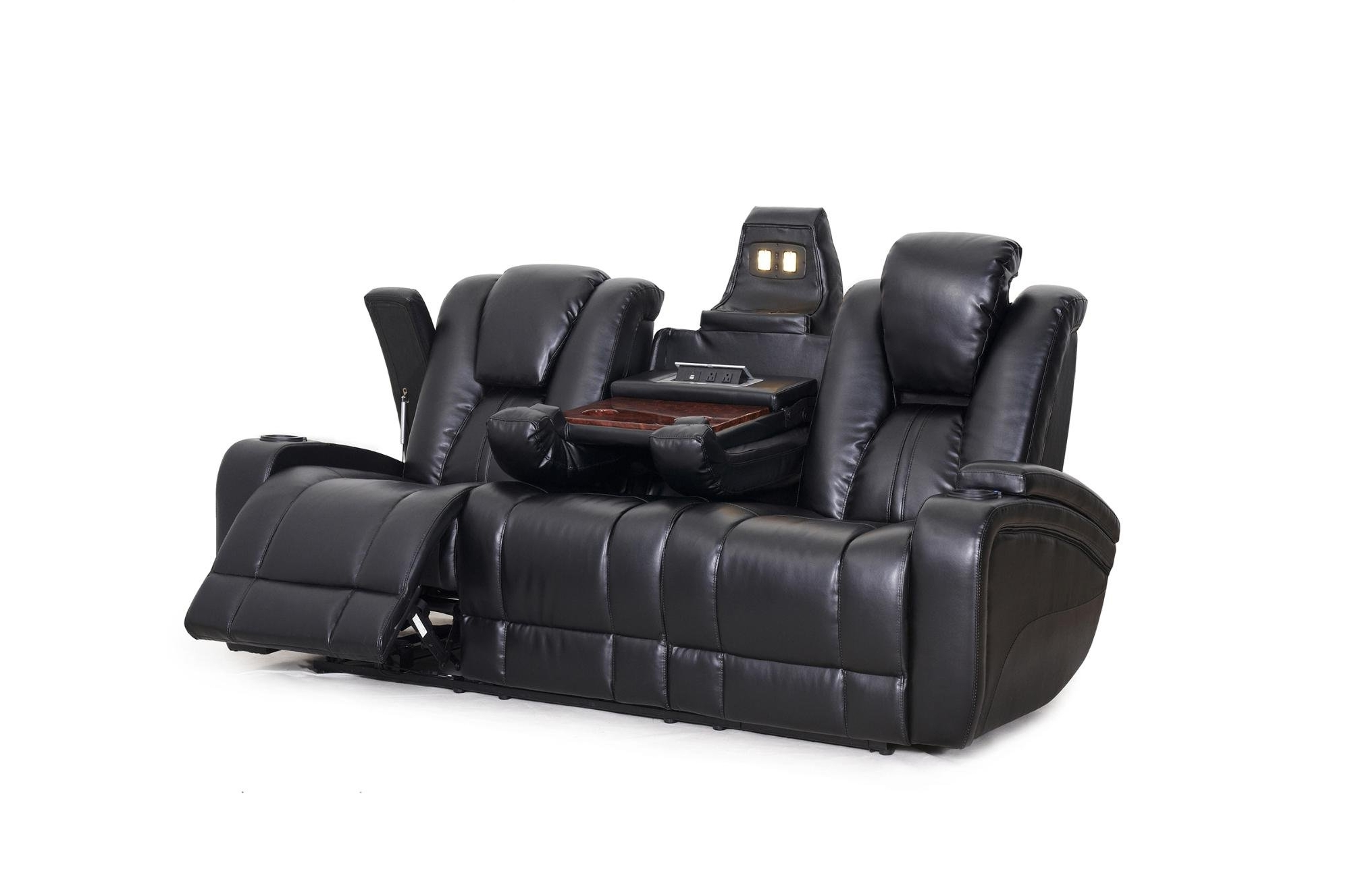 Current Seatcraft Transformer Reclining Sofa With Power And Drop Down Throughout Recliner Sofas (View 16 of 17)