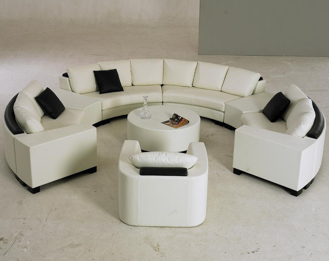 Current Sectional Sofa Design: Elegant Semi Circular Sectional Sofa Semi Throughout Circular Sofa Chairs (View 11 of 20)
