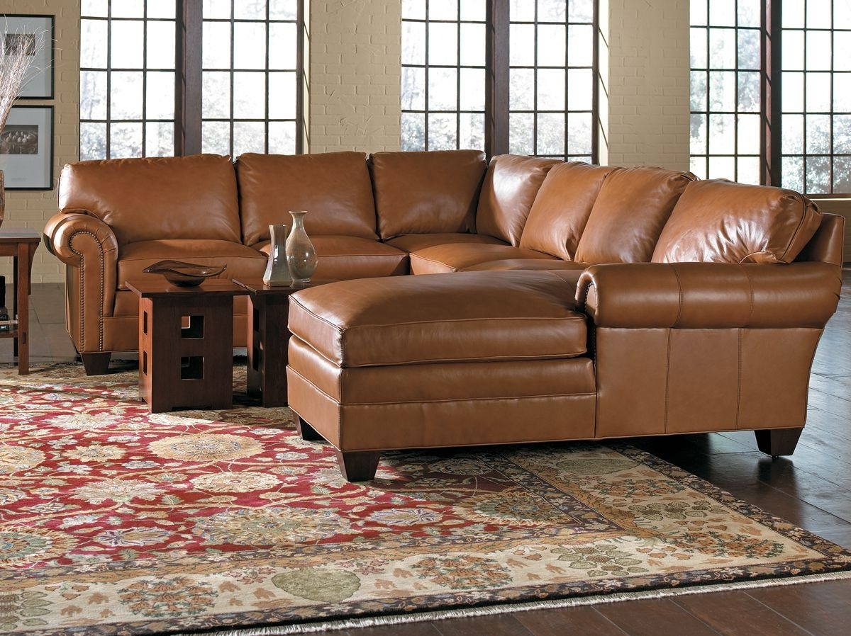 Current Sectional Sofas At Chicago Inside Stickley Leather 8666 Sectional – Toms Price Home Furnishings (View 2 of 20)