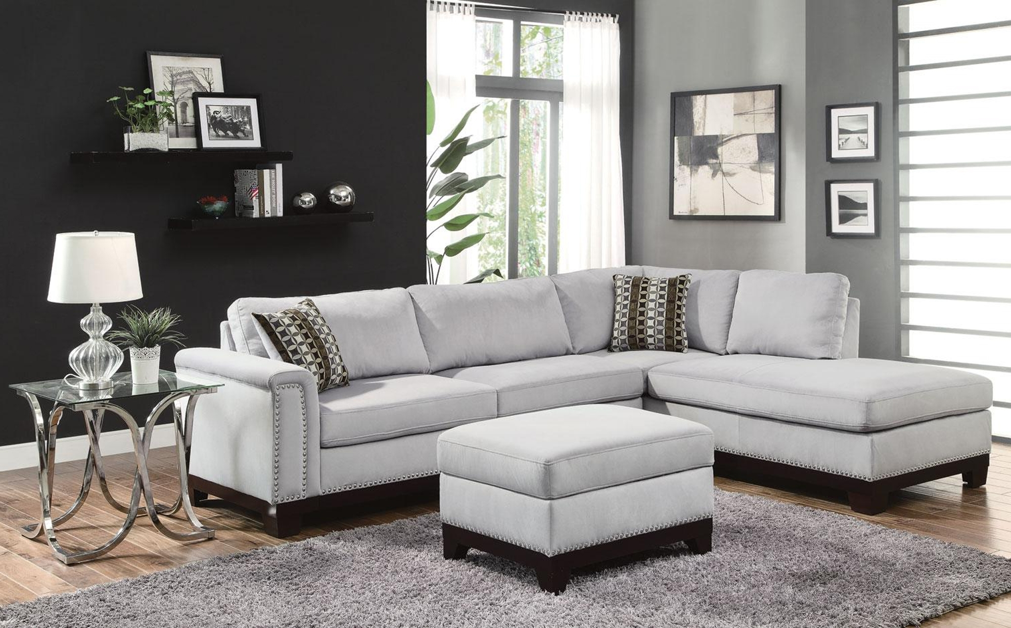 Current Sectional Sofas With Nailhead Trim Pertaining To $ (View 3 of 20)