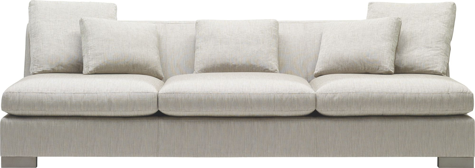 Current Small Armless Sofas Throughout Furniture: Small Armless Sectional Sofa (View 1 of 20)