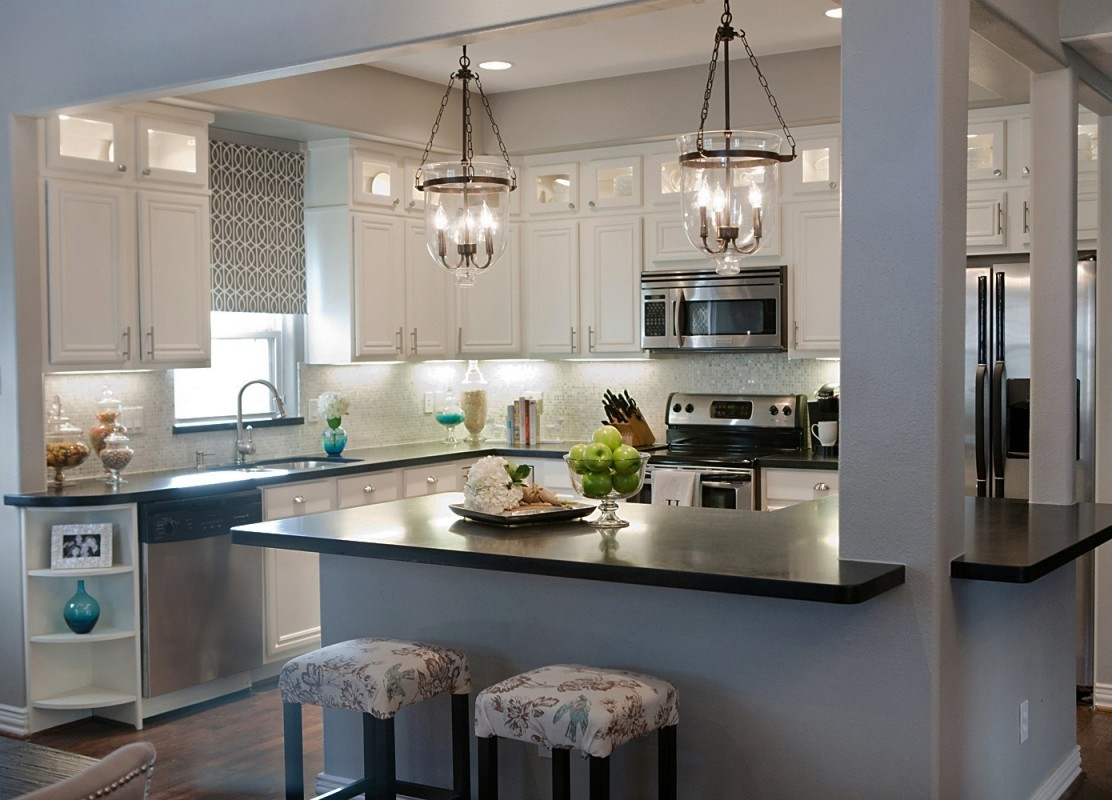 Current Small Rustic Kitchen Chandeliers Within Light Fixture : Glass Pendant Lights For Kitchen Island Rustic (View 6 of 20)