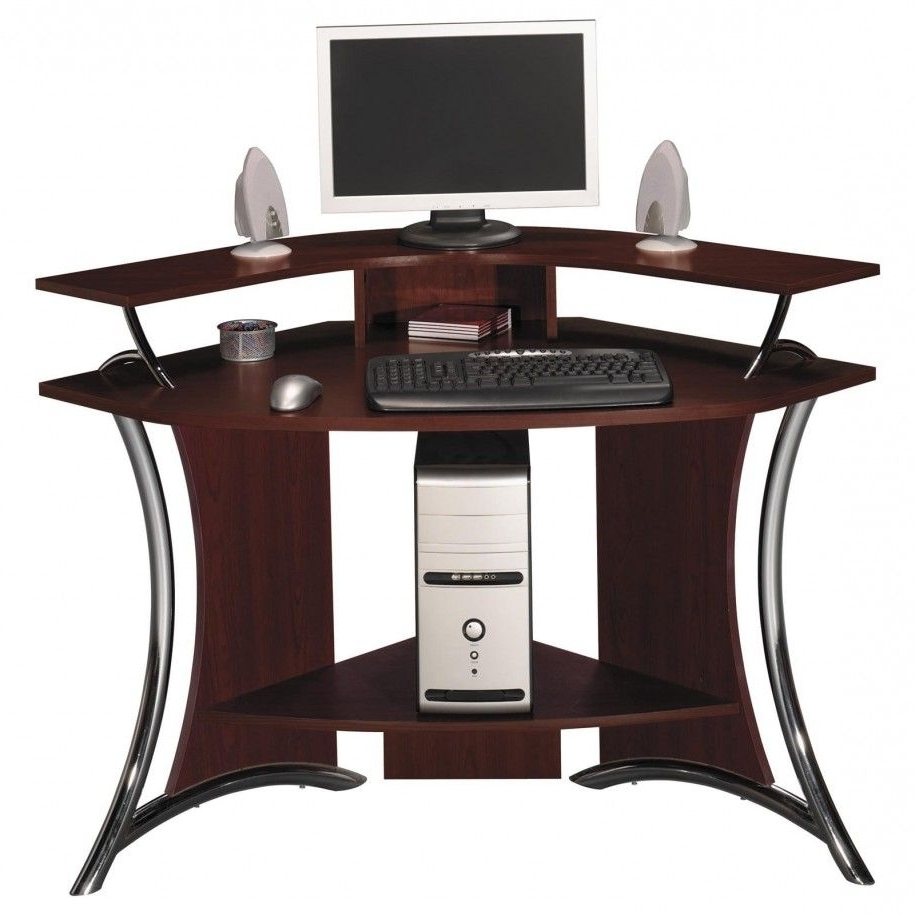 Cur Solid Wood Computer Desks Intended For Fabulous Corner Home Office Furniture