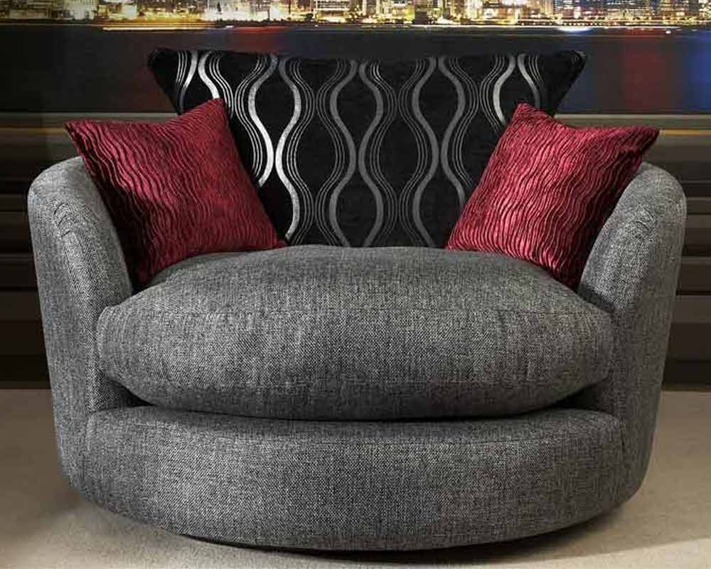 Current Stunning Cuddler Recliner For Home Furniture Ideas: Verona Swivel With Cuddler Swivel Sofa Chairs (View 10 of 20)