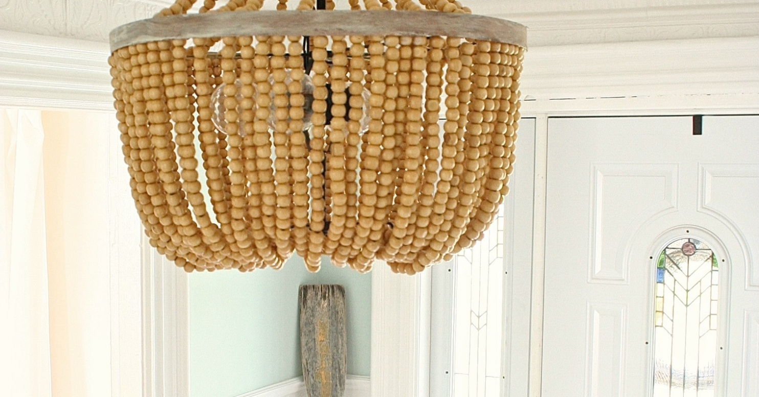 Current Turquoise Wood Bead Chandeliers In Lighting ~ Chandeliers ~ Turquoise Beaded Chandelier Light Fixture (View 8 of 20)