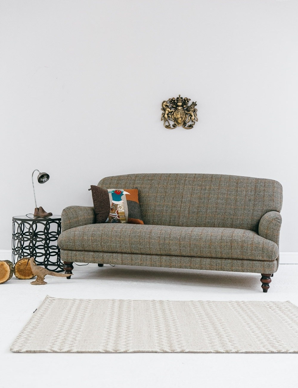 Current Tweed Fabric Sofas For Manor Harris Tweed Sofa In Bracken At Rose And Grey (View 2 of 20)