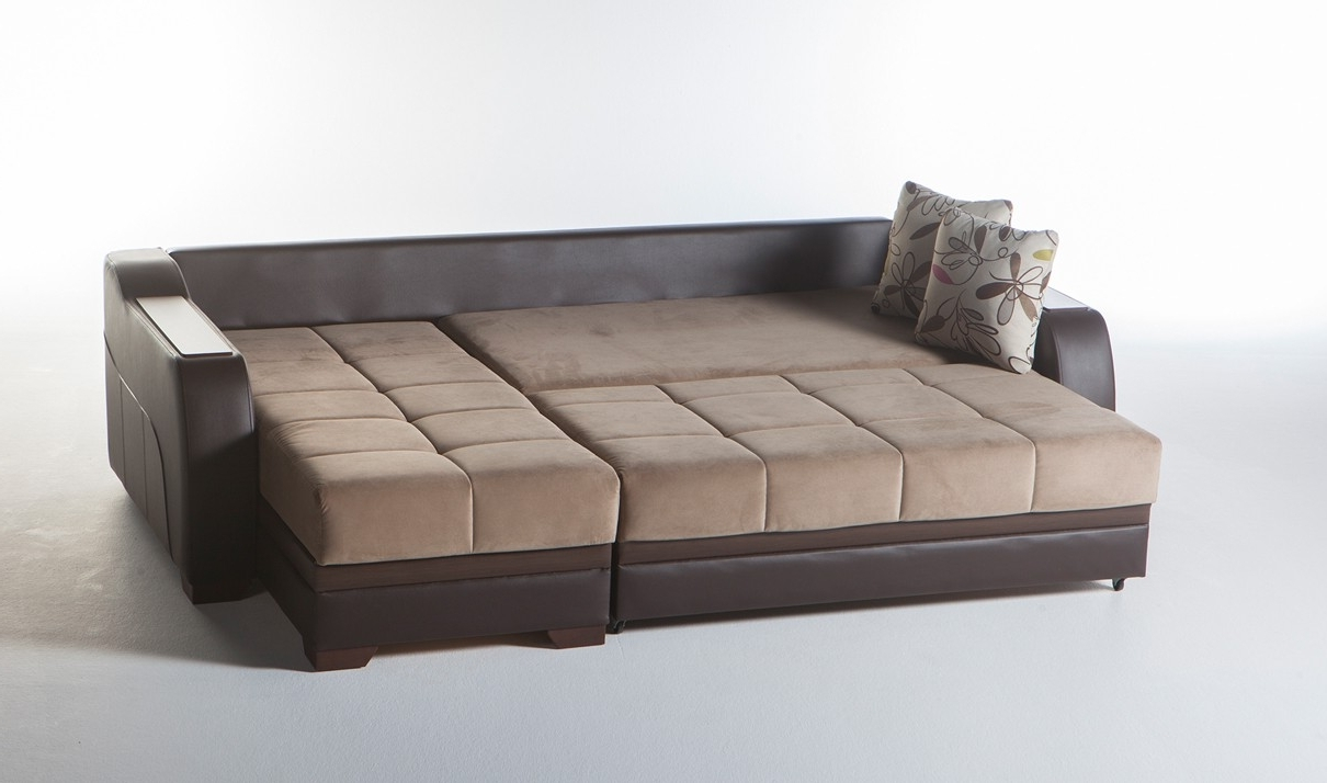 Current Ultra Convertible Sectional Sofa In Lilyum Vizonistikbal Regarding Convertible Sectional Sofas (View 14 of 20)