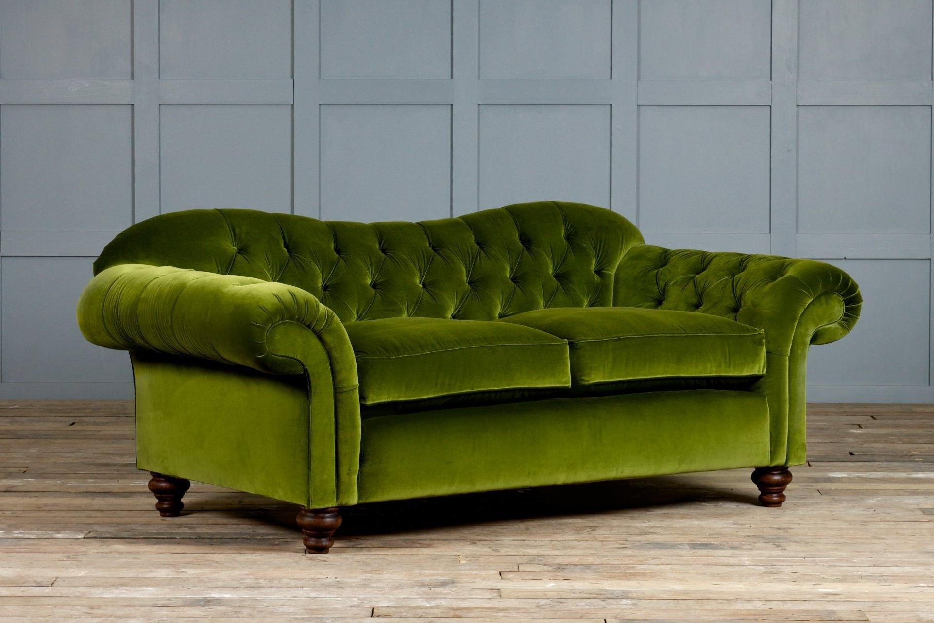 Current Velvet Sectional Sofas In Furniture: Coolest Lime Velvet Sofa House Design Ideas Velvet (View 4 of 20)