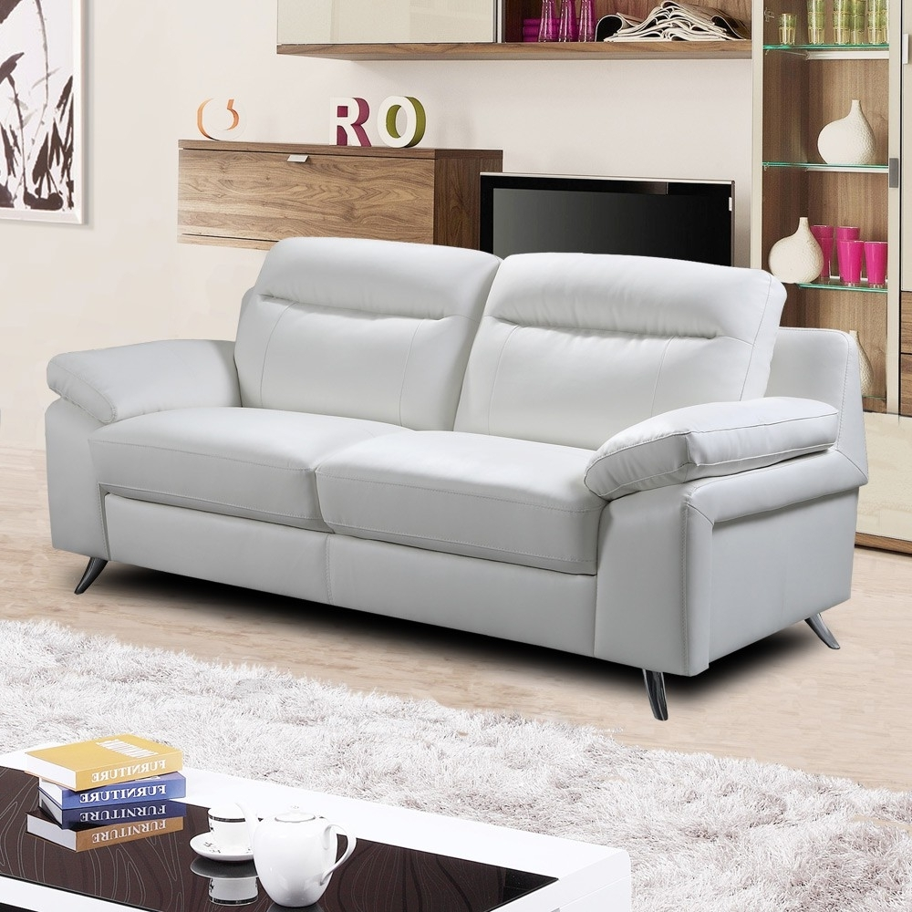 Current White Leather 2 Seater Sofa – White Leather Sofa Decorating Ideas In White Leather Sofas (View 4 of 20)