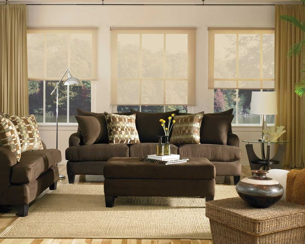 Curtains For Living Room With Brown Furniture Ideas : Option Intended For Well Known Brown Sofa Chairs (View 13 of 20)