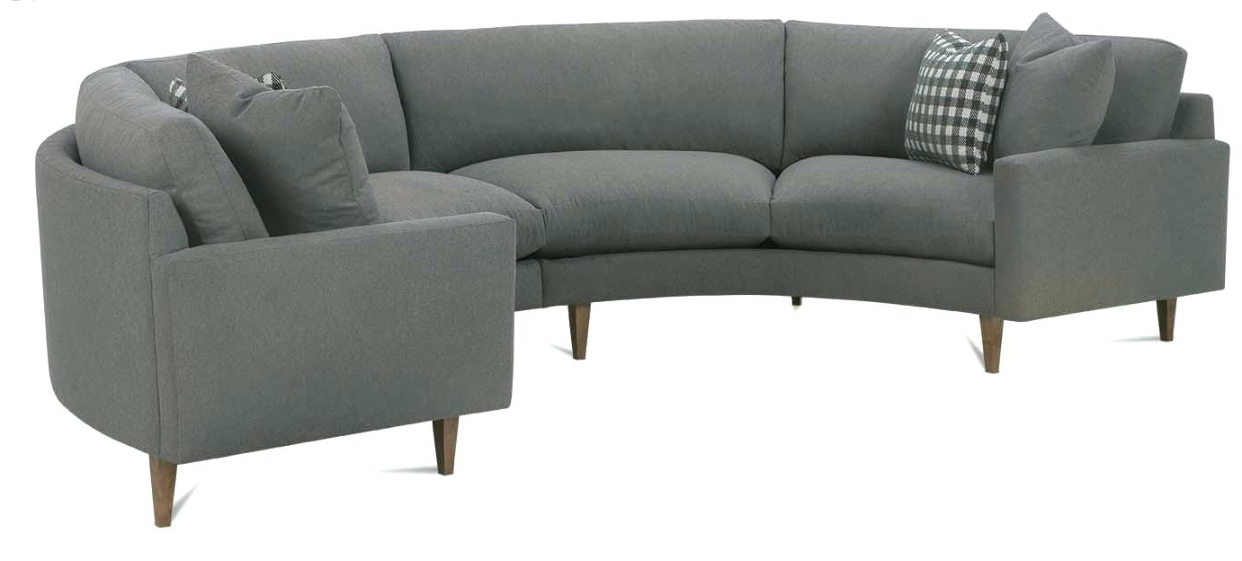 Curved Recliner Sofas For Most Por Sectional Leather With Small Es Sofa