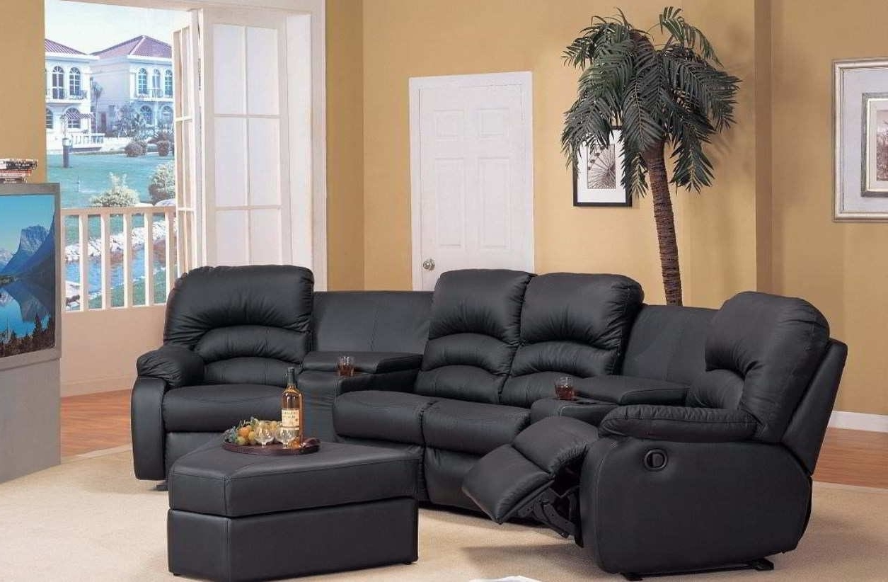 Curved Sectional Sofa Fascinating Recliner Sofas 28 For Small Pertaining To Widely Used Sectional Sofas With Recliners For Small Spaces (View 5 of 20)