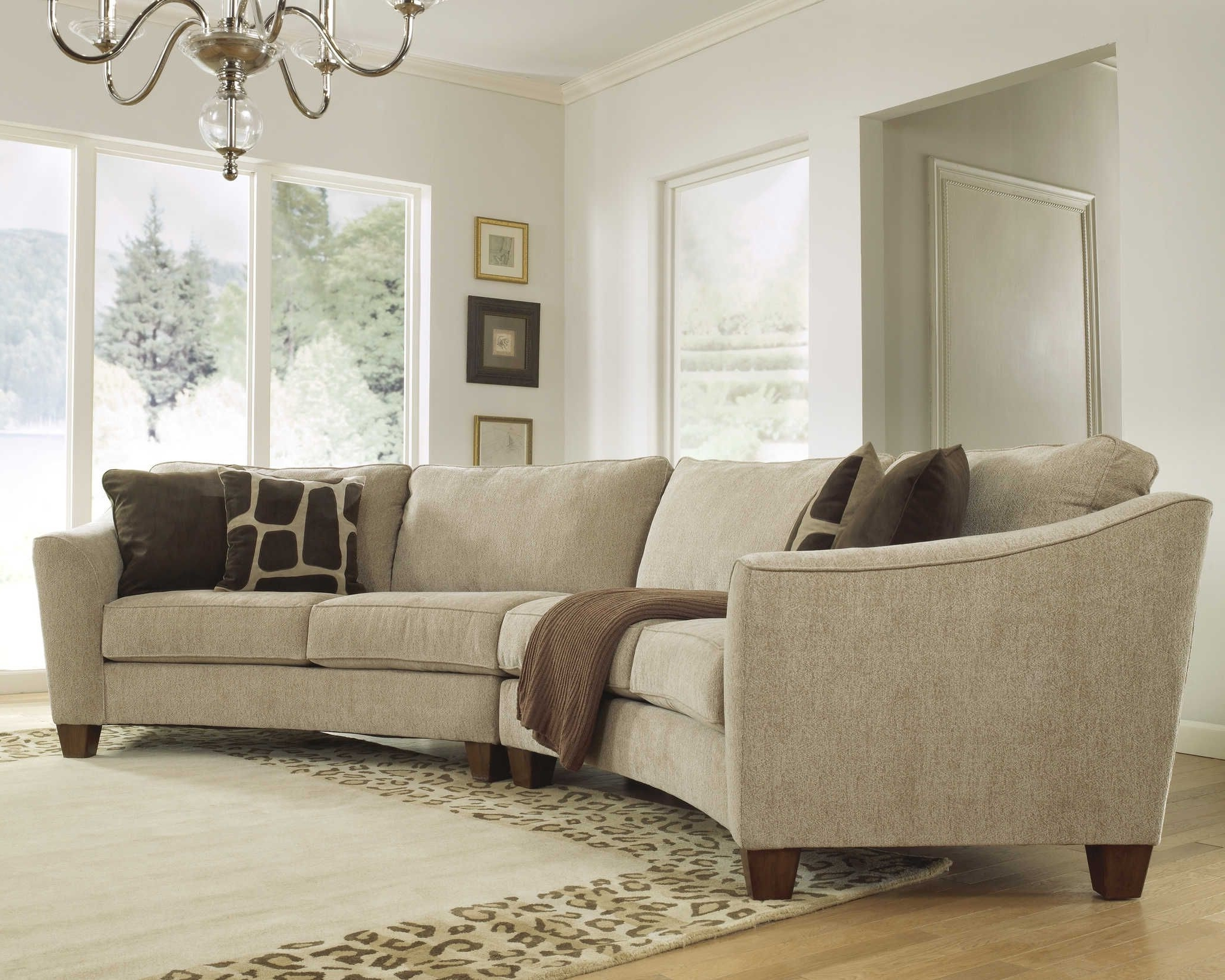 Curved Sectional Sofa Set – Rich Comfortable Upholstered Fabric For Most Recent Rounded Corner Sectional Sofas (View 14 of 20)