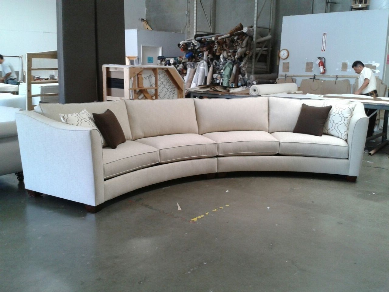 Curved Sectional Sofa Set – Rich Comfortable Upholstered Fabric Regarding Favorite Semicircular Sofas (View 3 of 20)