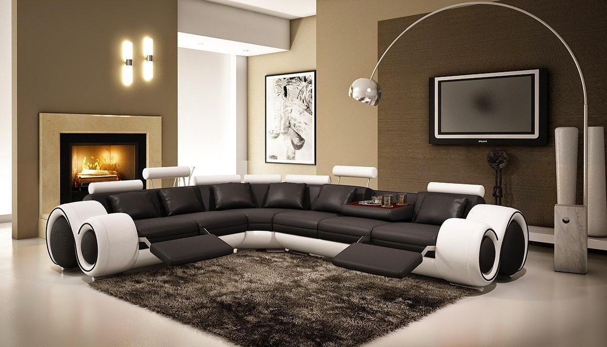 Curved Sectional Sofas With Recliner For Most Recent Curved Sofas And Loveseats Reviews: Curved Sectional Sofa With (View 9 of 20)