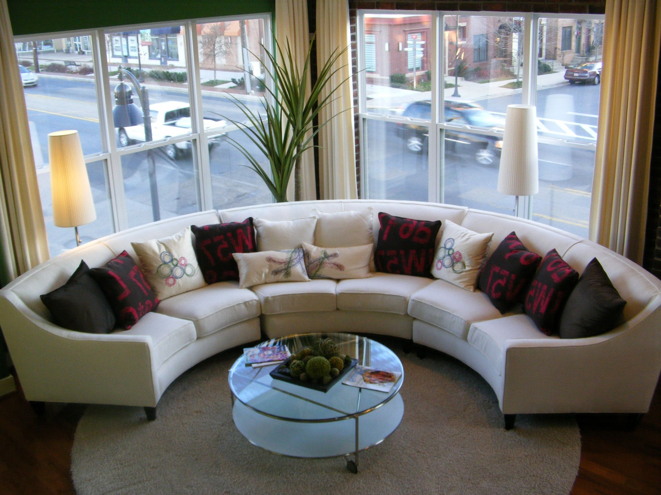 Curved Sofa Sectionals Within Current Round Sectional Sofas (View 3 of 20)