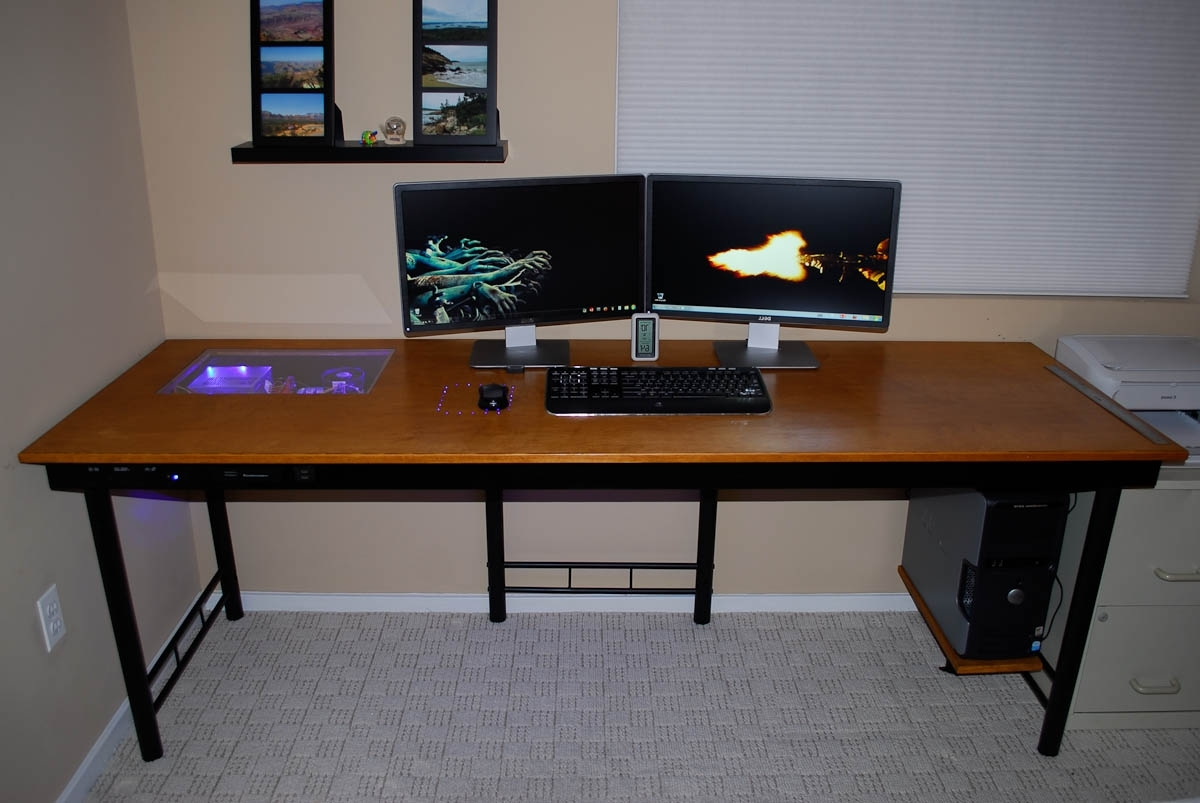 Custom Computer Desks Throughout 2018 Custom Computer Desk Wood – New Furniture (View 3 of 20)