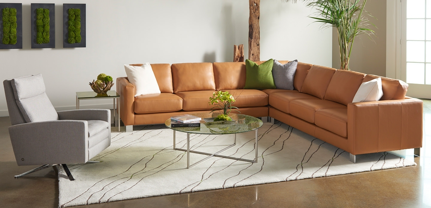 Merveilleux Custom Made Sectional Sofas Throughout Best And Newest Sectional Sofa :  Leather And Microfiber Sectional Leather