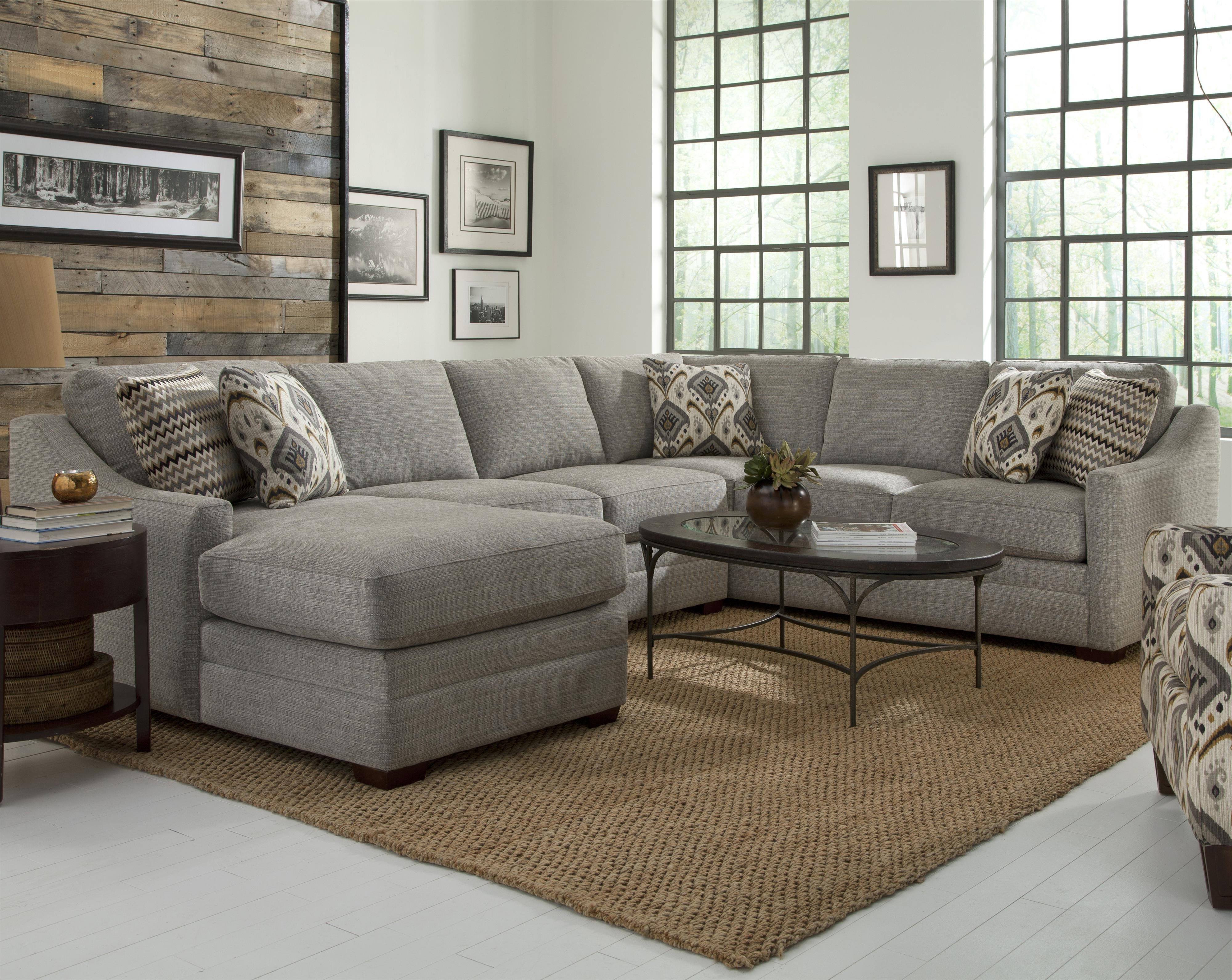 Customizable Four Piece Sectional Sofacraftmaster (View 4 of 20)