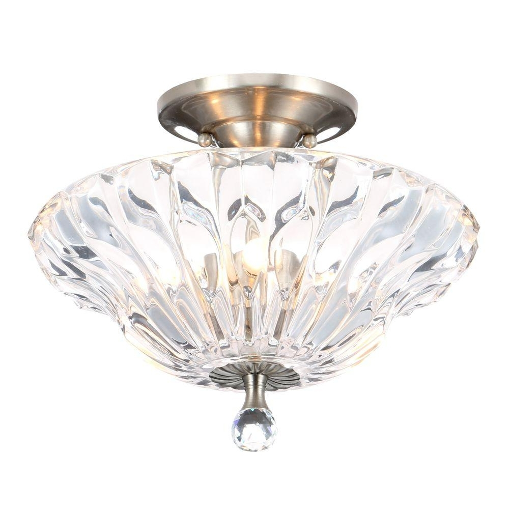 Dale Tiffany – Semi Flushmount Lights – Lighting – The Home Depot Inside Most Up To Date Wall Mount Crystal Chandeliers (View 4 of 20)