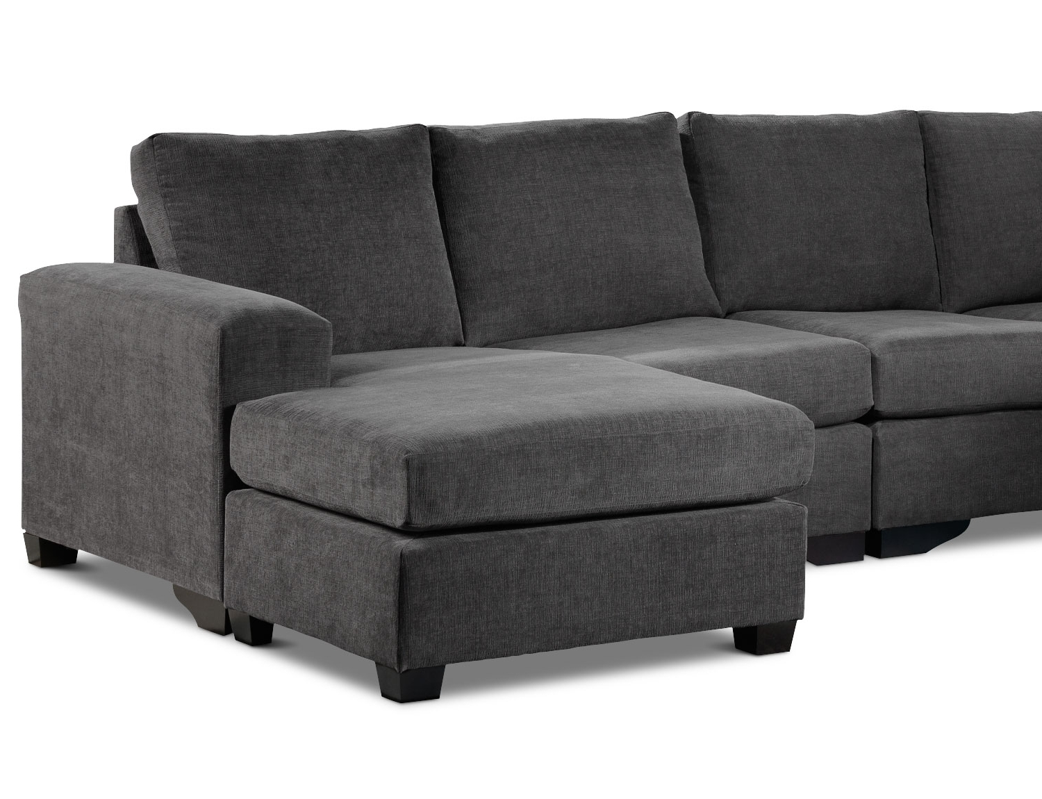 Danielle 3 Piece Sectional With Right Facing Corner Wedge – Grey Inside Well Known Mobilia Sectional Sofas (Gallery 12 of 20)