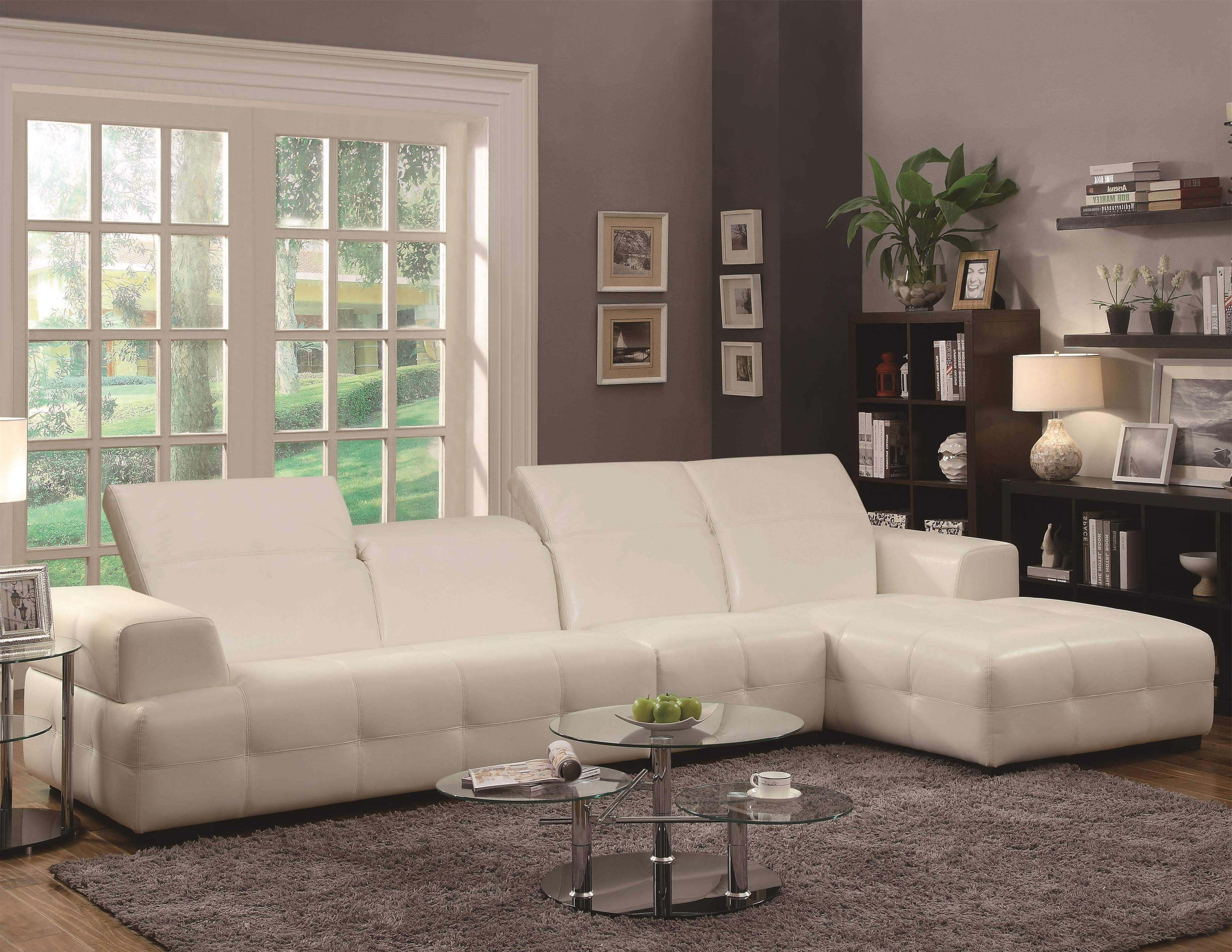 Darby Contemporary Sectional Sofa With Wide Chaise And Adjustable Within Best And Newest Philadelphia Sectional Sofas (Gallery 18 of 20)