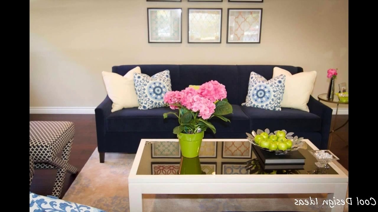 Dark Blue Sofas For Best And Newest Living Room Ideas With Navy Blue Sofa – Youtube (Gallery 9 of 20)