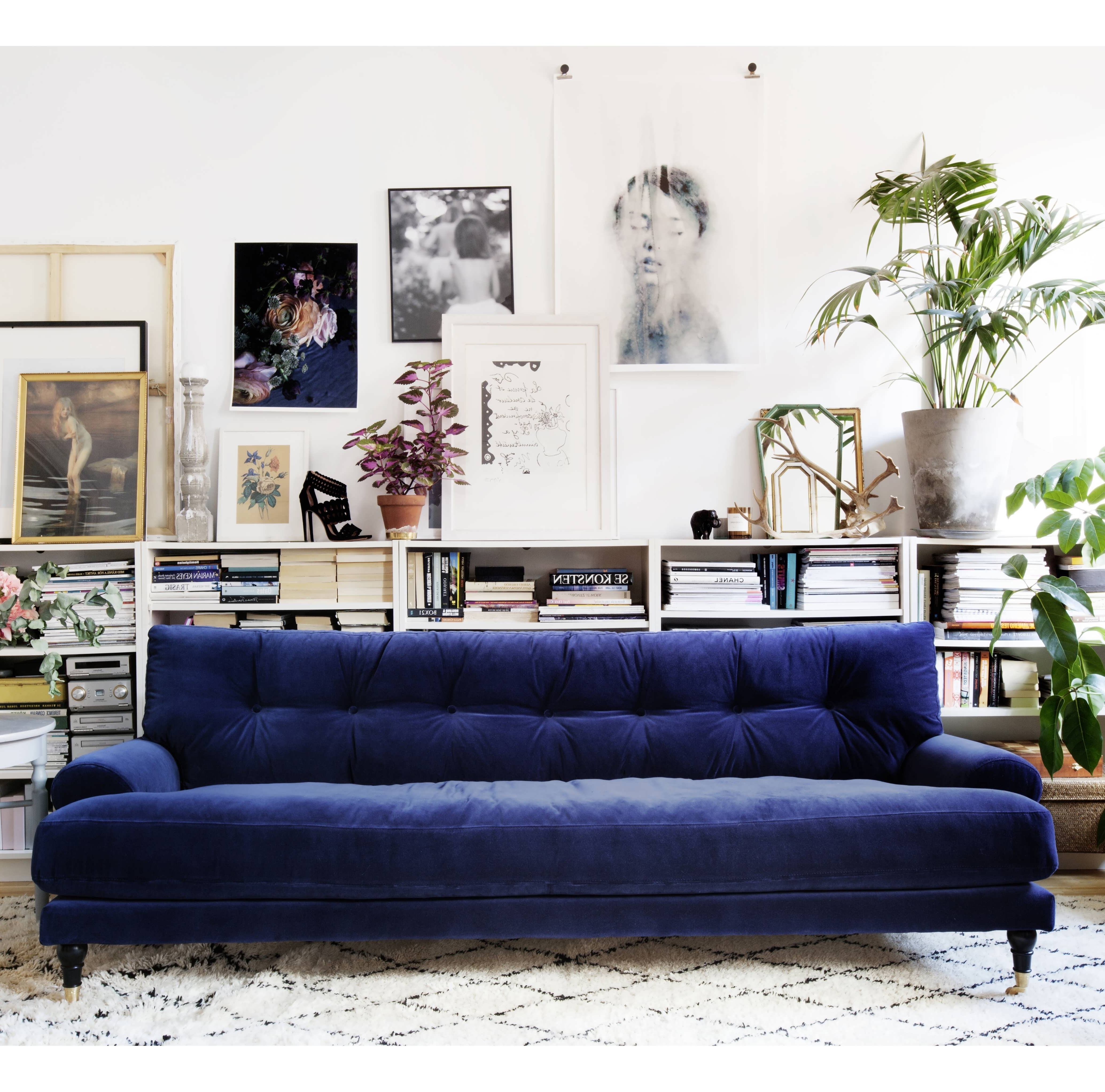 Dark Blue Sofas Throughout Well Known Sofas : Curved Sofa Small Corner Sofa Navy Blue Couch Navy Sofa (View 8 of 20)