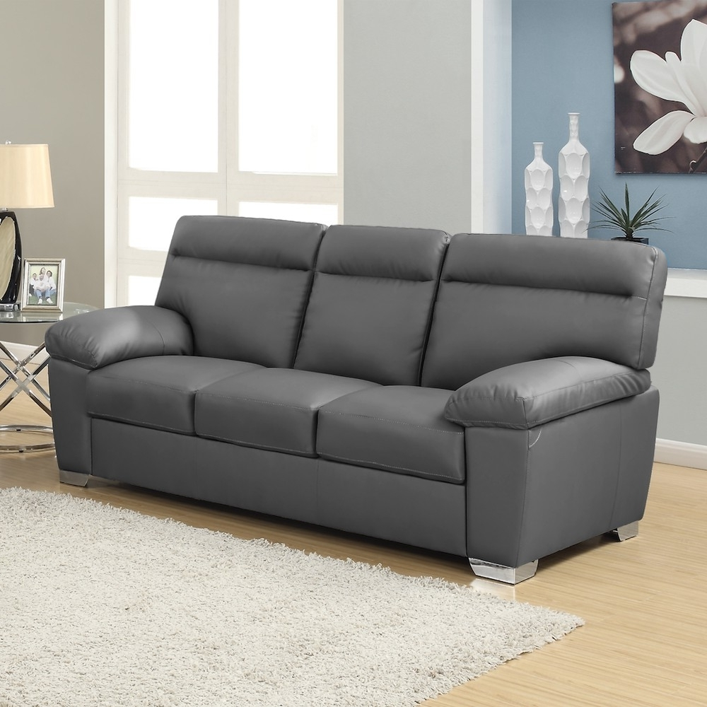Dark Grey Leather Sofa Check More At Http://casahoma/dark Grey Inside Preferred 3 Seater Leather Sofas (View 8 of 20)