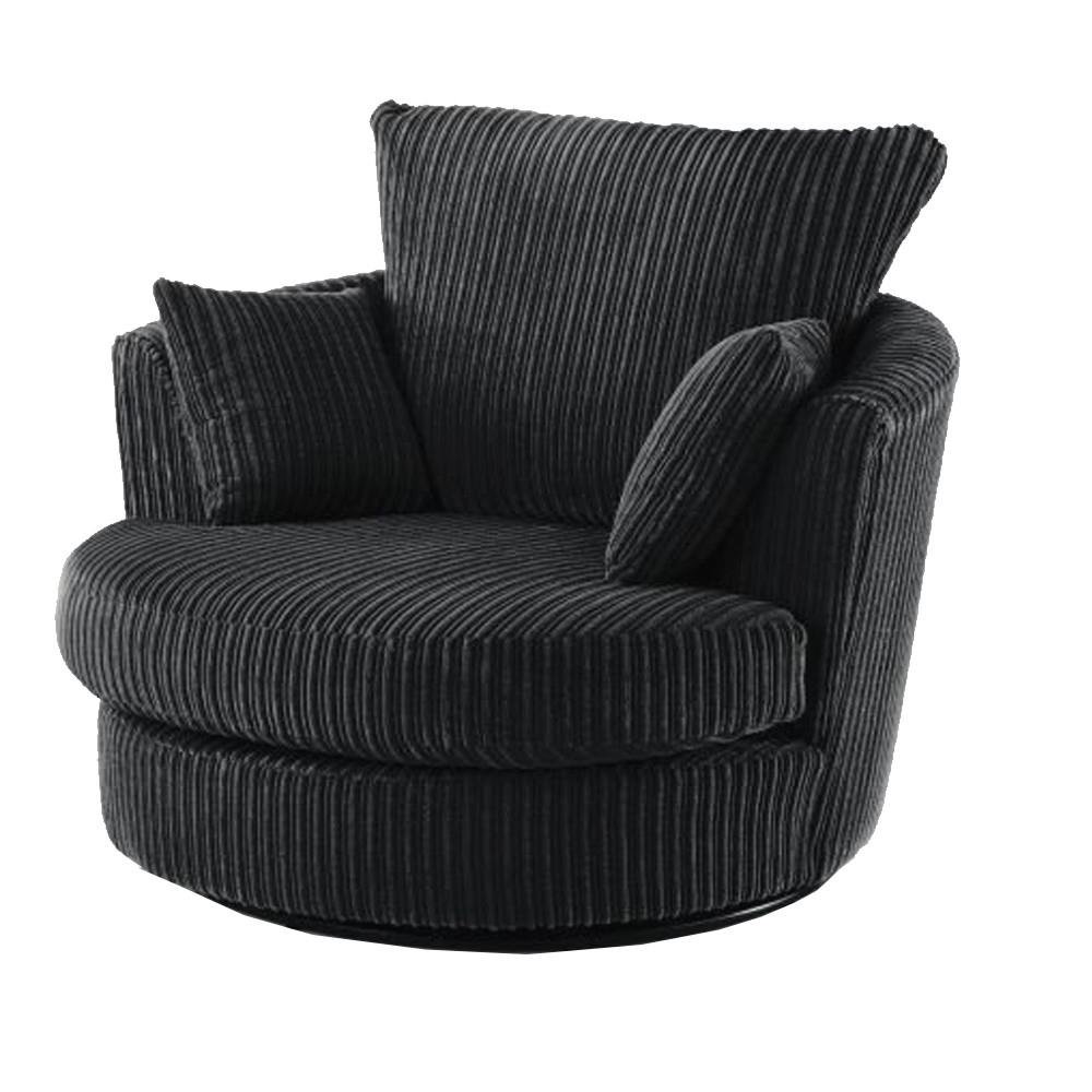 Dazzle Black Crushed Velvet Swivel Chair (View 15 of 20)