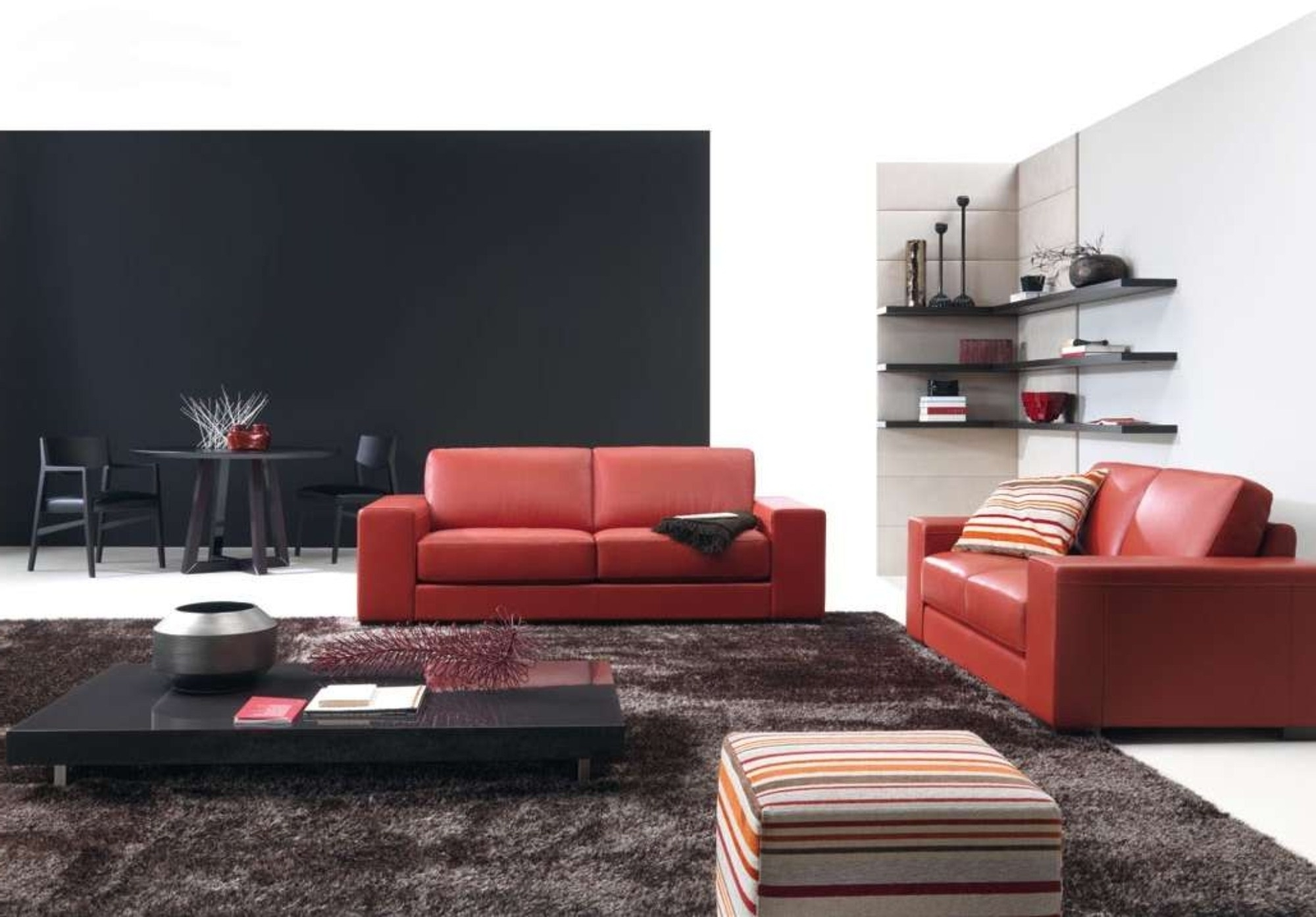 Decorating Ideas Living Room With Red Leather Sofa And Black Wood With Recent Red Leather Couches For Living Room (View 5 of 20)