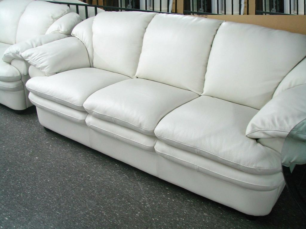Decorating Leather Sofa Offers Small Tan Leather Sofa Off White Within Preferred Off White Leather Sofas (View 6 of 20)